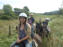 Family on a Trail Ride