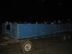 Hayride underway